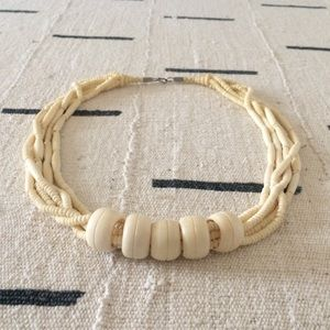 Vintage Art Deco faux ivory statement necklace
